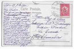 TURQUIE - 1909 - CARTE De THERAPIA => CHAMALIERES - 1858-1921 Empire Ottoman