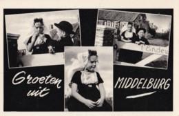 AM39 Groeten Uit Middelburg - Multiview RPPC, Children In Traditional Costume - Middelburg