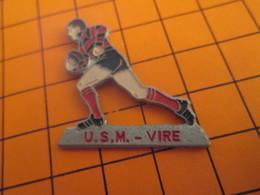 116A PIN'S PINS / Rare Et De Belle Qualité ! / Thème : SPORTS / RUGBY CLUB USM VIRE - Rugby