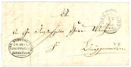 """""""Der Botenmeister Gr. Hess, Oberforst Direction"""" Dienstbrief Darmstadt 1841 - Deutschland"""