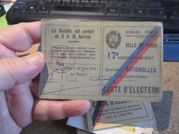 12 Cartes D'electeurs Diverses   (lot 112) - Documenti Storici