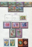 14041 GUINEE Collection Vendue Par Page N° 54/9, 77, 78/82, 83/4, 85/6 **/ */ °  1961-62  TB - Guinea (1958-...)