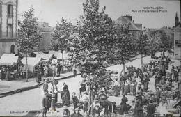 C.P.A. France > [03] Allier > Montlucon > Rue Et Place Denis PAPIN , Jour De Marché , Belle Animation Daté 1909 - TBE - Montlucon