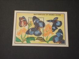 SIERRA LEONE - BF 1993 FARFALLE - NUOVO(++) - Sierra Leone (1961-...)