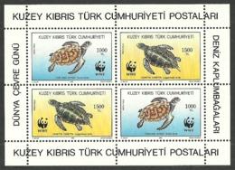 CYPRUS TURKISH 1992 WWF WORLD WILDLIFE FUND MARINE TURTLES M/SHEET MNH - Cyprus (Turkey)