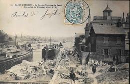 C.P.A. France > [02] Aisne > Saint Quentin > La Fin Des Travaux Du Canal , Belle Animation Daté 1903 - TBE - Saint Quentin