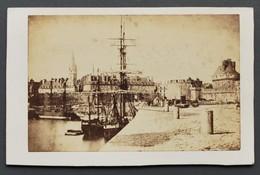 Photo Ancienne Sur Carton (issu D'un Album) - Saint-Malo - Port - Bateaux - Format 10 X 6,5 Cm - Foto's