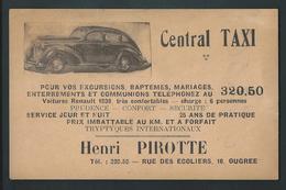 Ougrée. Voiture, Automobile, Central Taxi Henri Pirotte.  2 Scans - Taxi & Carrozzelle