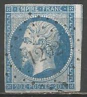 FRANCE - Oblitération Petits Chiffres LP 1292 FLIZE (Ardennes) - Marcophilie (Timbres Détachés)