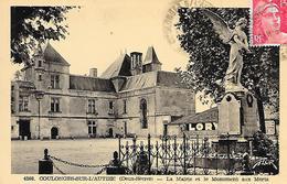 COULONGERS-SUR-L'AUTIZE - ( 79 ) - La Mairie Et Le Monument Aux Morts - Coulonges-sur-l'Autize
