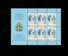 Città Del Vaticano 2011 Beatificazione Giovanni Paolo II - Foglietto  MNH** Emissione Congiunta - 6. 1946-.. Repubblica