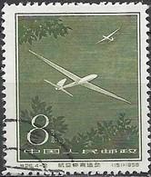 CHINA 1958 Aviation Sports - 8f. Gliders FU - 1949 - ... People's Republic