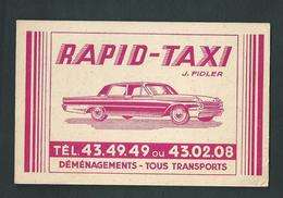 Liège. Voiture, Automobile, Rapid-Taxi. Garage J. Fidler. Bd De La Constitution. Transports Et Déménagements.  2 Scans - Taxi & Carrozzelle