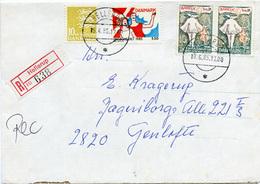 (e1148) Einschr. Brief Dänemark St. Hellerup N. Gentofte - Briefe U. Dokumente