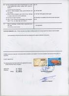 (Maurice) Mauritius. Timbres Postaux Utilisés Comme Fiscaux Sur Page De Certificat D'avaries 2003 . - Maurice (1968-...)