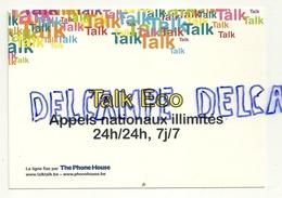 Publicité Pour  Le Téléphone Talk Eco. Carte Boomerang - Publicité