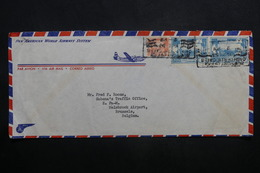 BIRMANIE - Enveloppe Pour Bruxelles En 1953, Affranchissement Et Oblitération Plaisants - L 37051 - Myanmar (Birmanie 1948-...)
