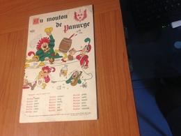 MENU AU MOUTON DE PANURGE - PARIS 1965 -  Illustration DUBOUT   (port à Ma Charge ) - Menus