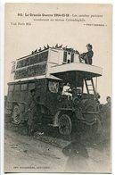 CPA Grande Guerre 1914 15 16 * Les Autobus Parisiens Transformés En Station Colombophile ( Animée ) - War 1914-18