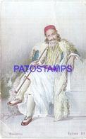 116919 GREECE COSTUMES ART MAN BREAK POSTAL POSTCARD - Greece