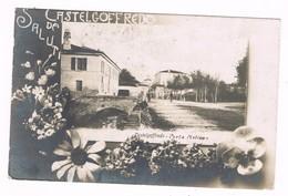Castelgoffredo Mantova Liberty Porta Molino Tipo Foto Bromuro  1913 - Mantova