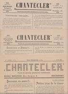 ROCHEFORT 1945 Feuille De  Jeunesse Estudiantine Rochefortoise Rédaction Ecole Moyenne  / Revue Chantecler Lot De 3 N° - 1900 - 1949