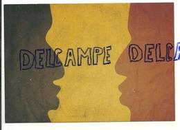 """Publicité Pour Les Journaux """"De Standaard"""" Et """"Le Soir"""". . Face-à Face Nord-Sud. Carte Boomerang - Publicité"""