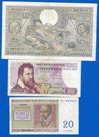 Belgique 3 Billets - [ 2] 1831-... : Belgian Kingdom