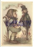 Petite Fille, Parapluie Et épouvantail. Signée Bukac. Coloprint BUKA 8251 - Illustratoren & Fotografen