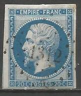 FRANCE - Oblitération Petits Chiffres LP 1312 FORCALQUIER (Basses-Alpes) - 1849-1876: Période Classique