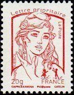 France Marianne De La Jeunesse Par Ciappa Et Kawena N° 4767_c ** TVP Rouge 20g. Typographie Sans Phosphore - 2013-... Marianne (Ciappa-Kawena)