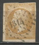 FRANCE - Oblitération Petits Chiffres LP 1314 FORMERIE (Oise) - Marcofilie (losse Zegels)