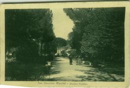 SAN SEVERINO MARCHE ( MACERATA ) GIARDINO PUBBLICO - EDIZIONE NATALINI - 1923 (3366) - Macerata