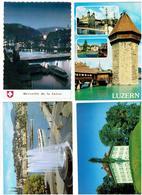 Lot 4 Cpm - Suisse - LUZERN LUCERNE - RICHARD WAGNER MUSEUM - LU Luzern