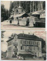 LOT 2 CPA * GERARDMER Hotel Restaurant Saut Des Cuves & Hôtel De La Jamagne Camille Leschemelle Cuisinier - Gerardmer