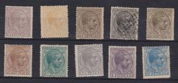 Año 1878  Edifil 190 A 199 Serie Alfonso XII , Nº193 En Usado,  Membretes De A.Roig Y ET En 190-195-196-197-199 - 1875-1882 Regno: Alfonso XII