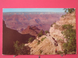 Visuel Pas Très Courant - Etats-Unis - Grand Canyon National Park - Arizona - Battleship Rock - 1963 - Scans Recto Verso - Grand Canyon