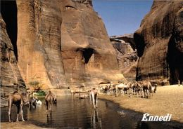 1 AK Tschad République Du Tchad * Wasserstelle Im Ennedi-Massiv - Ein Großer Sandsteinkomplex Mitten In Der Sahara * - Tschad