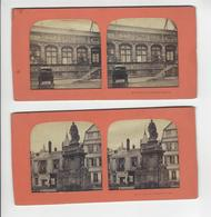 2 STEREOS ROUEN PHOTO STEREO A LA LUMIERE CIRCA 1870 /FREE SHIPPING REGISTERED - Photos Stéréoscopiques
