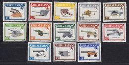 Gibraltar 1987 Definitives / Guns 13v ** Mnh (43964) - Gibraltar