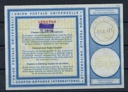 LESOTHO Vi19Handstamp 15 Cents / 10 CENTS International Reply Coupon Reponse Antwortschein IAS IRC O MASERU 8.9.71 - Lesotho (1966-...)