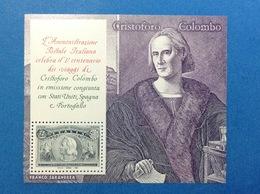 1992 ITALIA FOGLIETTO NUOVO SHEET NEW MNH** I VIAGGI DI CRISTOFORO COLOMBO CELEBRAZIONI COLOMBIANE - 6. 1946-.. Repubblica