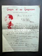 Gregor Et Ses Gregoriens Jazz Lettera Intestata Autografa Teatro Storchi 1935 - Non Classificati
