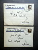 Compagnia Vivienne D'Arys Due Cartoline Autografe Avanspettacolo Bologna 1935 - Cartoline