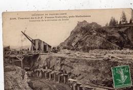 TRAVAUX DU C.D.F. FRASNE VALLORBE PRES MALBUISSON SOUTERRAIN DE LA DERIVATION DU DOUBS - France