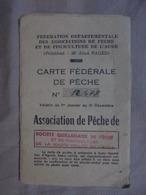 Ancien - Carte Fédérale De Pêche Couiza/Quillan 1972 - Documentos Antiguos