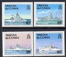 Tristan Da Cunha 1994 Royal Navy Ships III Set Of 4, MNH, SG 565/8 - Tristan Da Cunha