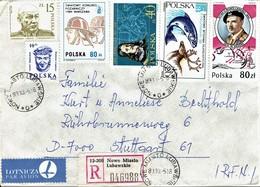Polen / Poland - Umschlag Echt Gelaufen / Cover Used (c529) - 1944-.... Republik