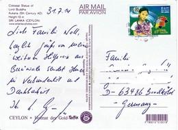 Sri Lanka - Postkarte Echt Gelaufen / Postcard Used (c530) - Sri Lanka (Ceylon) (1948-...)