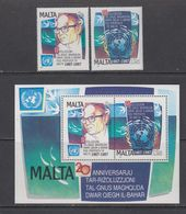 Malta 1987 United Nations Resolutiion On The Seabed 2v + M/s ** Mnh (43966) - Malta